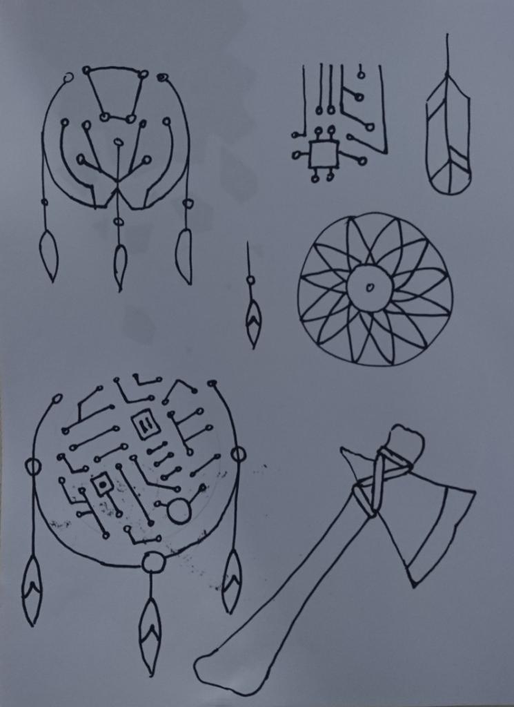 Ruwe logo idee schetsen