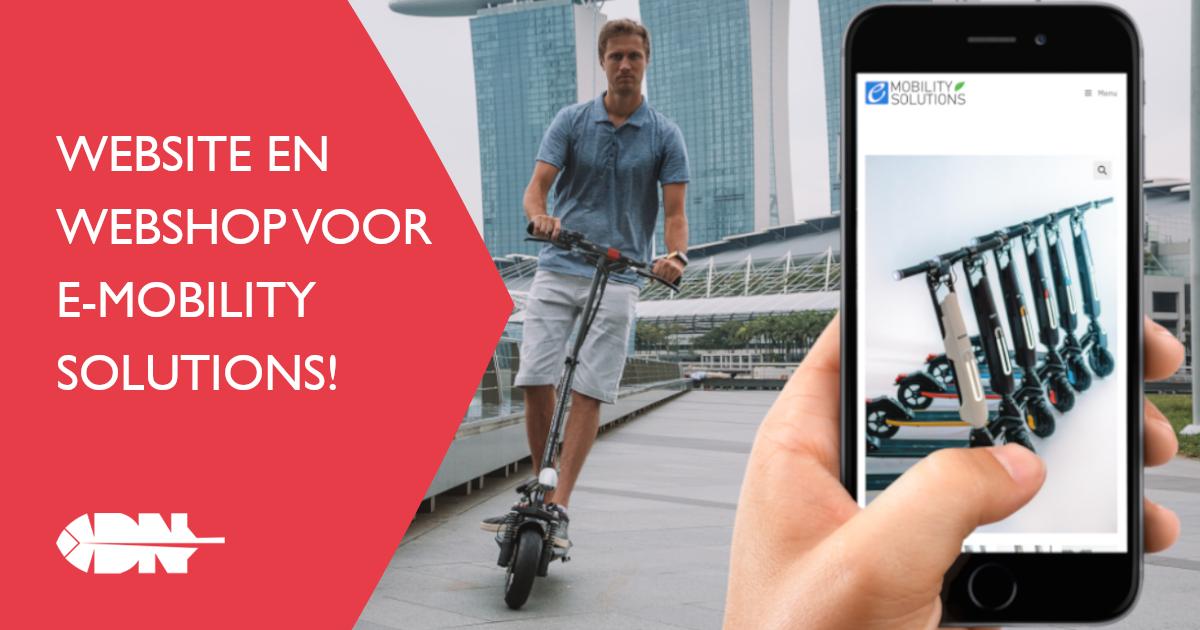 Website en webshop voor E-Mobility Solutions