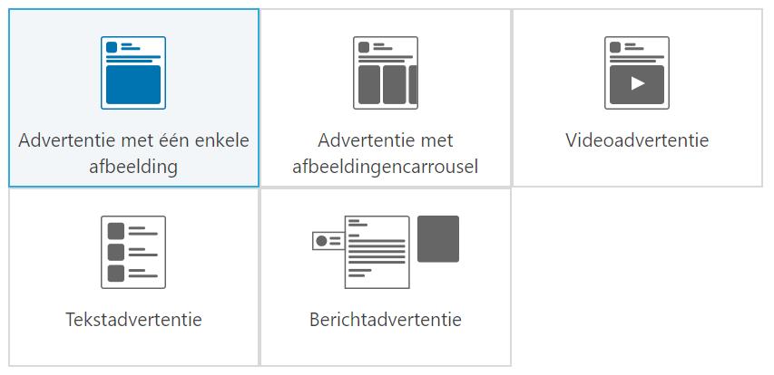 Advertentieformat op LinkedIn