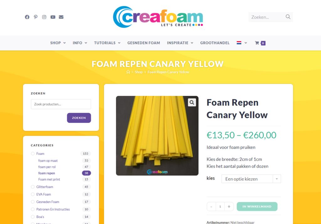 Creafoam geel