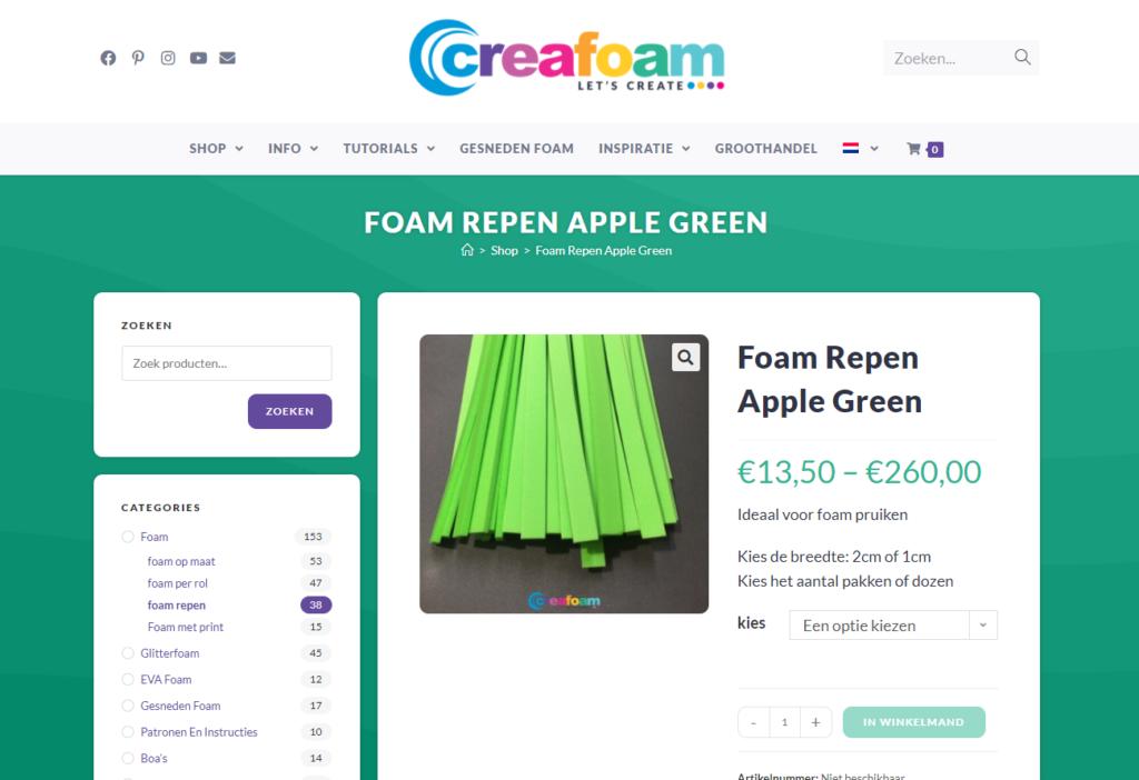 Creafoam groen