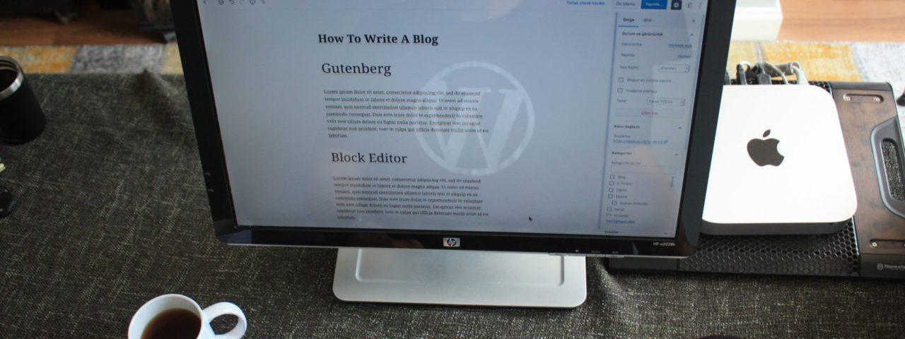 Wordpress back-end op een scherm